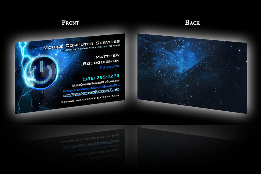 Welcome to Holy Fire Productions - Business Card Portfolio
